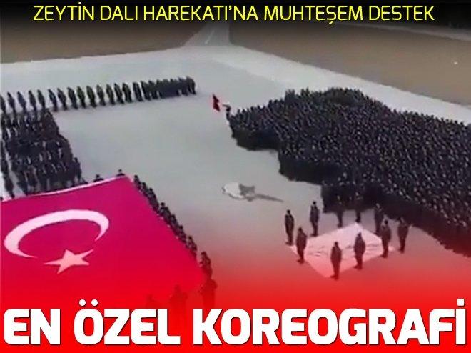 PAEM'DEN ZEYTİN DALI HAREKATI'NA ÖZEL KOREOGRAFİ