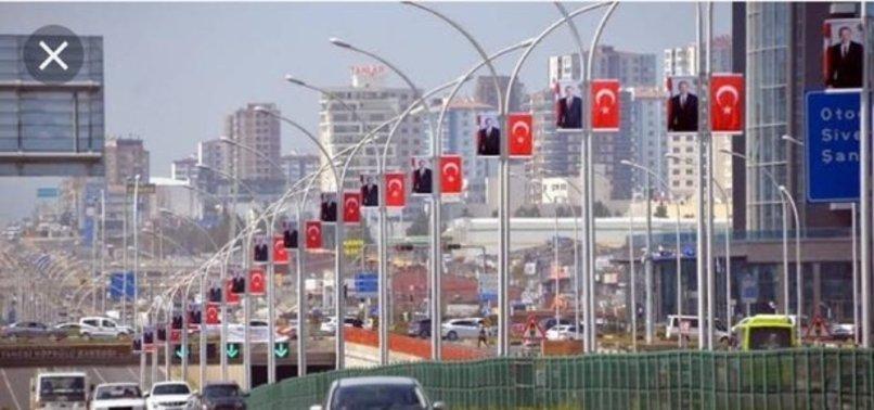 HDP, DİYARBAKIR'DA TÜRK BAYRAKLARINI KALDIRTTI