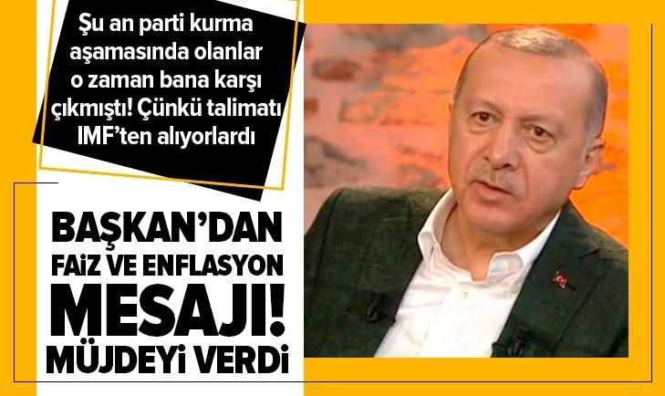 Başkan Erdoğan: Enflasyon tek haneli olacak