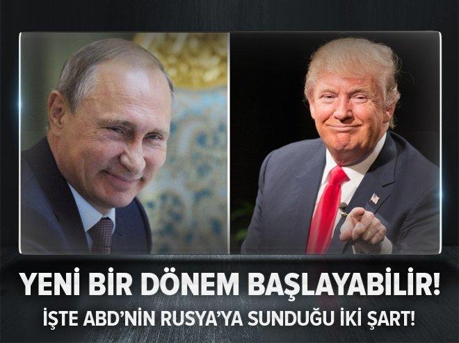 ABD'DEN RUSYA'YA ORTAK ZEMİN İÇİN İKİ ŞART
