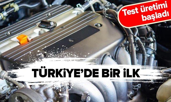 TEST ÜRETİMİ BAŞLADI! TÜRKİYE'DE BİR İLK