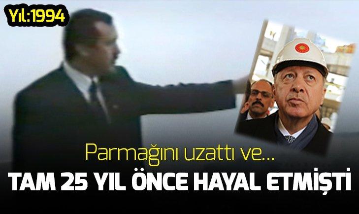 Başkan Erdoğan 1994 yılında, 'Şuraya cami yapacağız' demişti! İşte 25 yıl önceki o görüntüler...