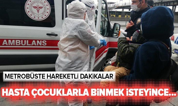 METROBÜSTE HAREKETLİ DAKİKALAR!