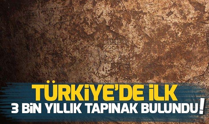 TÜRKİYE'DE BİR İLK! 3 BİN YILLIK TAPINAK BULUNDU...
