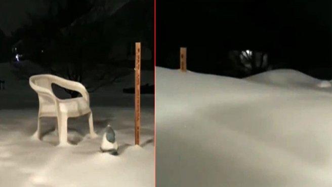 Kar yağışı insan boyunu aştı!