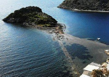 Bodrum'da sular çekildi tarihi kral yolu ortaya çıktı