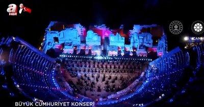 Son dakika: 29 Ekim Cumhuriyet Bayramı Büyük Cumhuriyet Konseri ile kutlandı