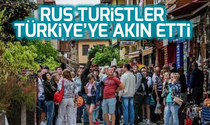 Türkiye'ye Rus turist akını