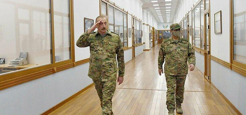 Azerbaycan Cumhurbaşkanı İlham Aliyev mesajını askeri elbise ile verdi: Hiçbir güç irademizi etkileyemez