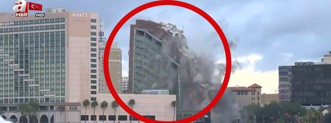 Dev bina böyle yerle bir edildi