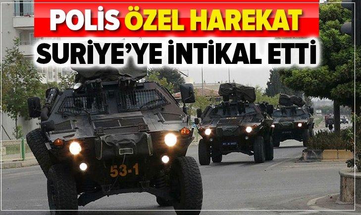 ÖZEL HAREKAT POLİSLERİ 'BARIŞ PINARI' İÇİN YOLA ÇIKTI