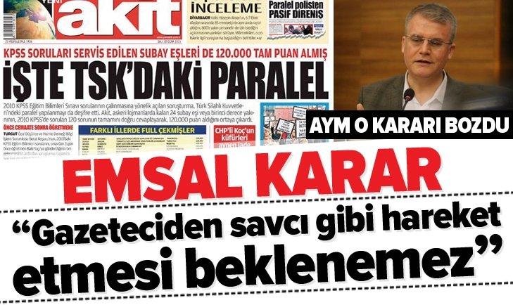 AYM'DEN EMSAL KARAR! RESMİ GAZETE'DE YAYIMLANDI