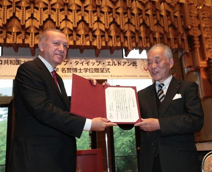 Başkan Erdoğan Japonya'da çay seremonisine katıldı