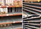 Koronavirüsü duyan markete koştu! İstanbul ve İzmirde raflar boşaltıldı  Video