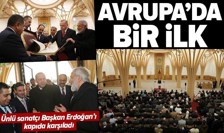 BAŞKAN ERDOĞAN İNGİLTERE'DEKİ CAMBRİDGE CAMİSİ'Nİ AÇTI