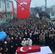 İdlib şehidi Uzman Onbaşı Emin Yıldırım son yolculuğuna uğurlandı