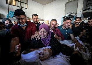 Bebek katili İsrail füzeyle vurdu! Hamile kadını 4 çocuğu ile katlettiler