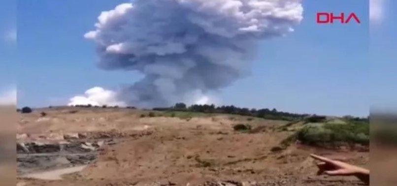 Son dakika: Sakarya'da havai fişek fabrikasında patlama!