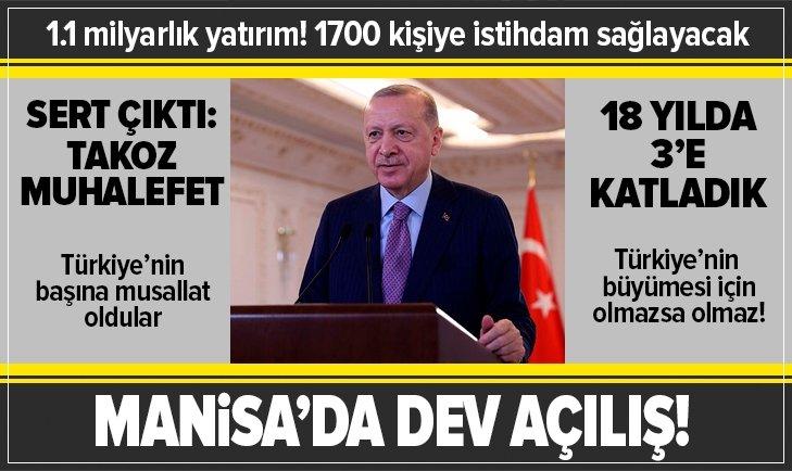 Başkan Erdoğan'dan dev açılış!