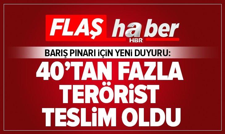 BARIŞ PINARI HAREKATI'NDA 40'TAN FAZLA TERÖRİST TESLİM OLDU