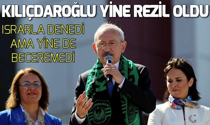 Kemal Kılıçdaroğlu kendini yine rezil etti