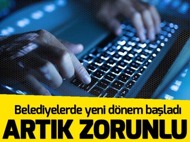 E-BELEDİYE DÖNEMİ BAŞLADI