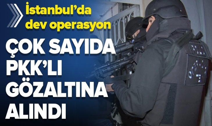 İstanbul'da PKK'ya dev operasyon!