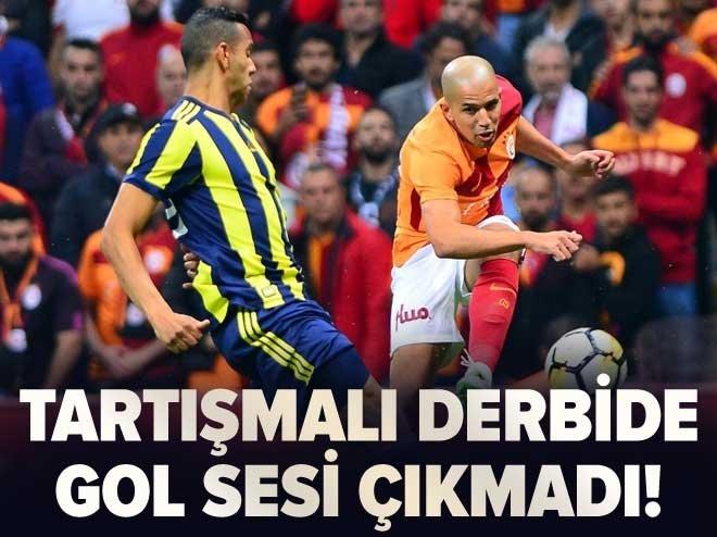 Galatasaray - Fenerbahçe derbisinde kazanan çıkmadı