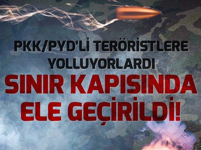 AFRİN'DEKİ PKK/PYD'Lİ TERÖRİSTLERE GİDEN ÜNİFORMALAR CİLVEGÖZÜ'NDE ELE GEÇİRİLDİ!