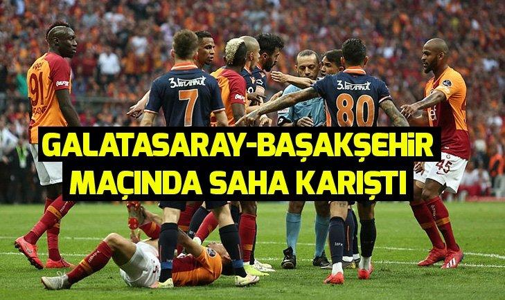 Galatasaray - Medipol Başakşehir maçında gerginlik