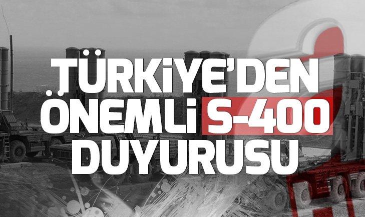 Son dakika: Türkiye'den S-400'lerin alım süreciyle ilgili açıklama