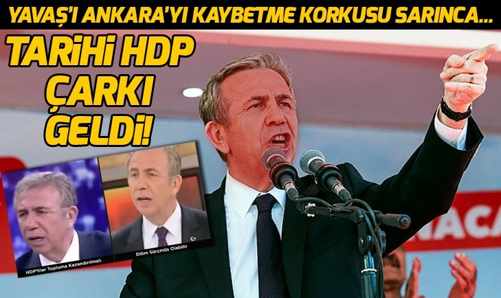 Mansur Yavaş'tan HDP çarkı: Dilim sürçtü...