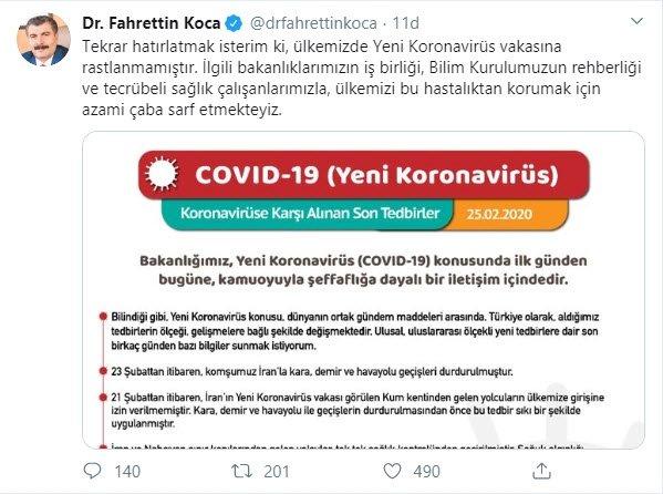 Son dakika: Sağlık Bakanı Koca'dan flaş koronavirüs açıklaması