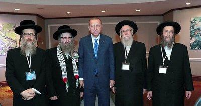 Başkan Erdoğan, Siyonizme Karşı Yahudiler Birliği heyetini kabul etti
