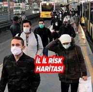 Türkiyenin 81 ilinde koronavirüs renk haritası değişti! En yüksek riskli iller açıklandı! İşte şehirlerin risk durumu