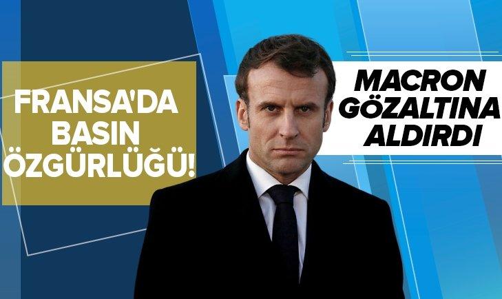 MACRON, GAZETECİYİ GÖZALTINA ALDIRDI