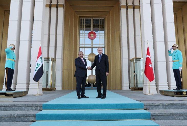 Başkan Erdoğan, Irak Başbakanı Abdulmehdi'yi resmi törenle karşıladı