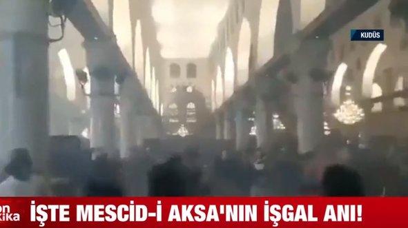 İşte Mescid-i Aksa'nın işgal anı!