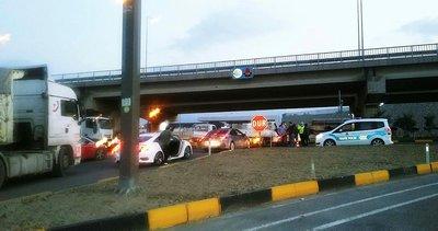 Turgutlu'da İzmir istikameti trafiğe kapatıldı
