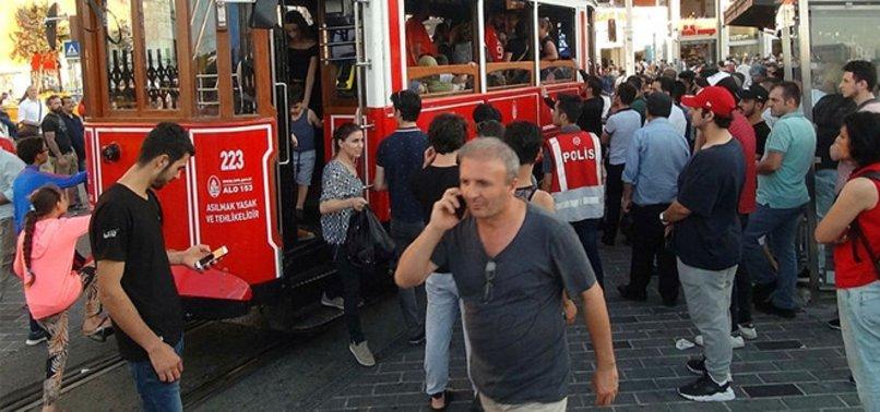 TAKSİM'DE SKANDAL OLAY! ÖZEL HAREKAT POLİSLERİ MÜDAHALE ETTİ...