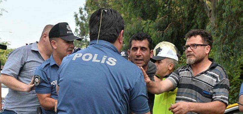 TAKSİCİ POLİSİN ÜZERİNE YÜRÜDÜ 'ARACIMI YAKARIM' DEDİ