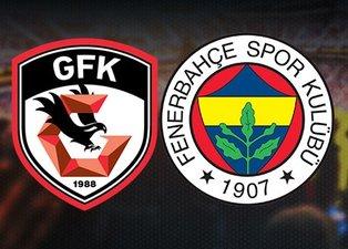 Ersun Yanal'dan flaş karar! İşte Gaziantep FK-Fenerbahçe maçı muhtemel 11'leri!