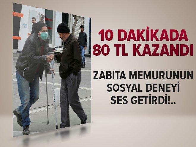 10 DAKİKADA 80 LİRA KAZANDI!..