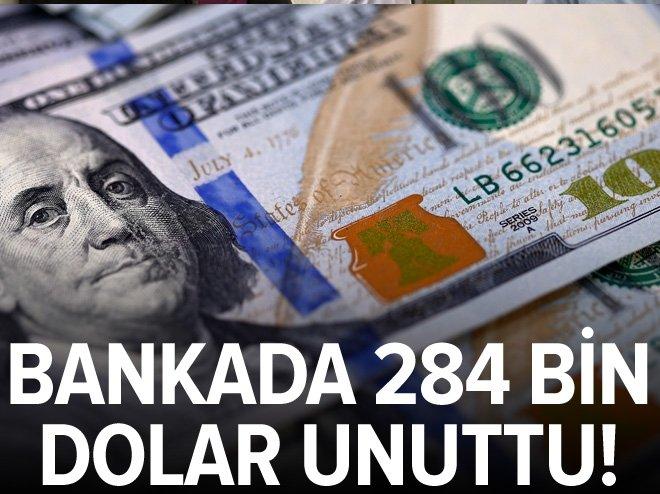 BANKADA 284 BİN DOLAR UNUTTU!