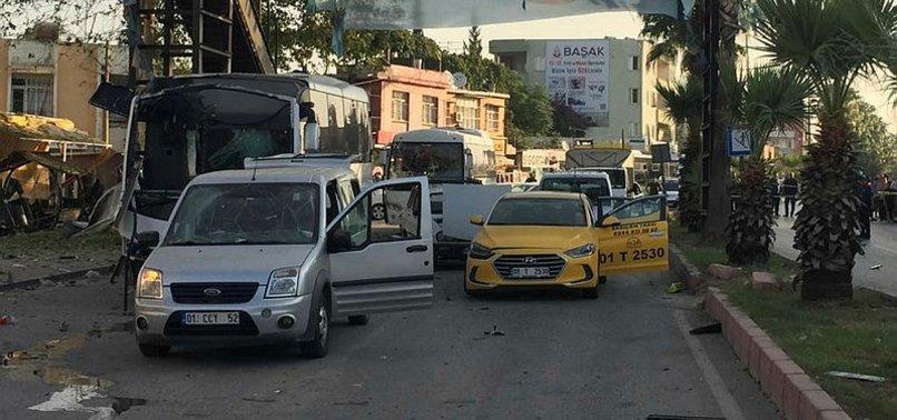ADANA'DA POLİS SERVİSİNE BOMBALI SALDIRI!