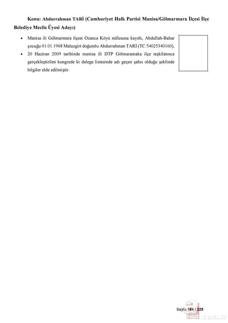CHP listelerinde PKK'lı kaynıyor! İşte terörle bağlantılı 229 CHP'li isim!