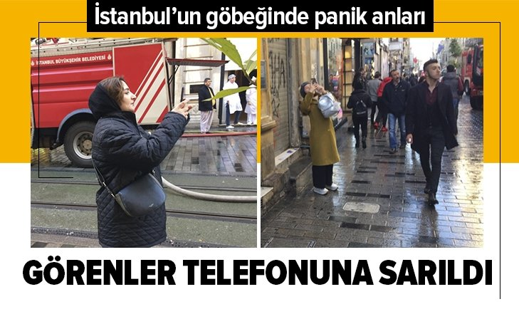 İSTANBUL'DA PANİK ANLARI! GÖRENLER TELEFONUNA SARILDI