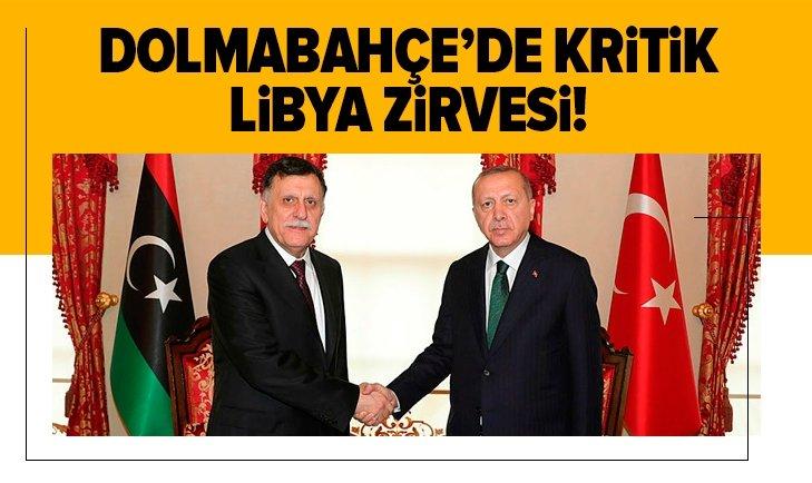 Başkan Erdoğan Libya Başbakanı Serrac görüşmesi sona erdi