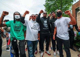 ABD'de öldürülen siyahi George Floyd için başlayan protestolar 10. gününde