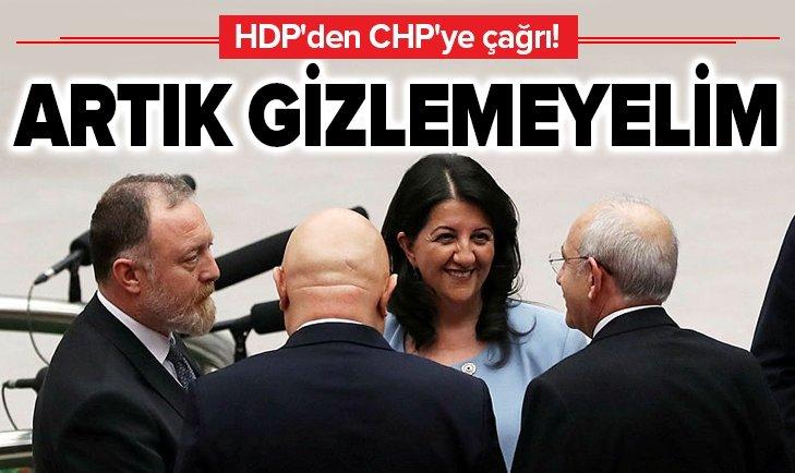 HDP'DEN CHP'YE ÇAĞRI: İTTİFAKI GİZLEMEYELİM
